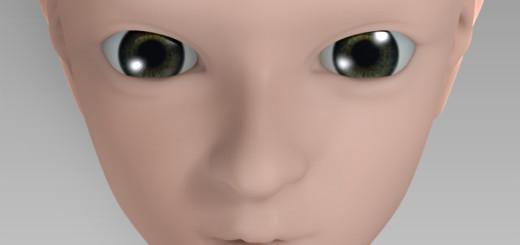 人物(女性)眼球作成