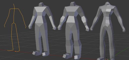 スキン(Skin)で簡単人物ボディのベースモデリング