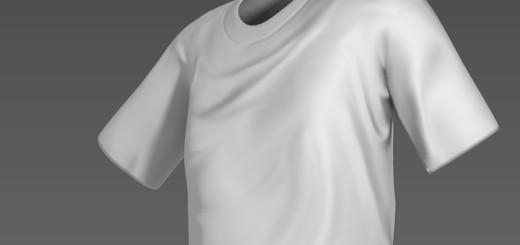 Tシャツのシワをノーマルマップのアニメーションで表現