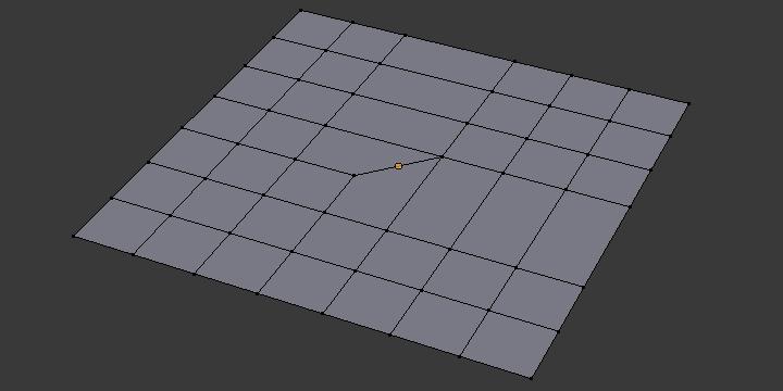メッシュ構造:2列と1列を結合