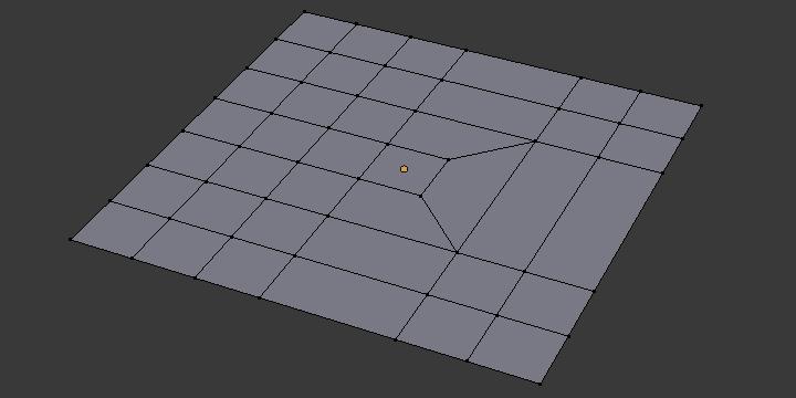 メッシュ構造:3列と1列を結合