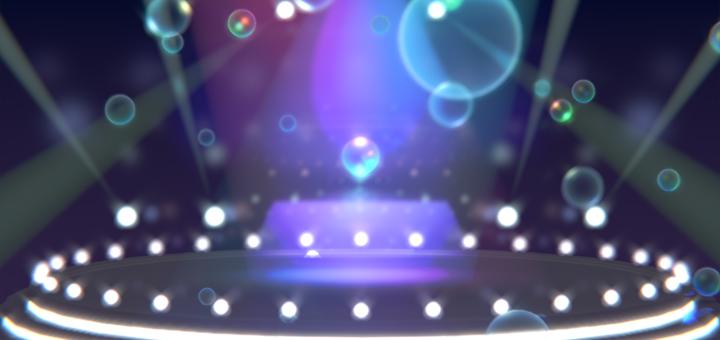 シャボン玉が舞うステージBlenderファイル