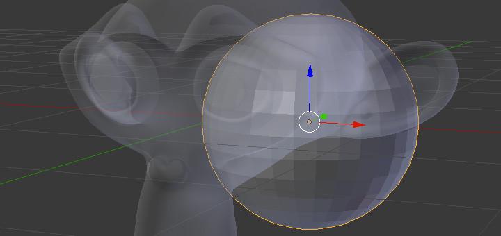 3Dビューでオブジェクトを半透明にする