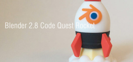 Blender 2.8 Code Quest ロケット型USBメモリ